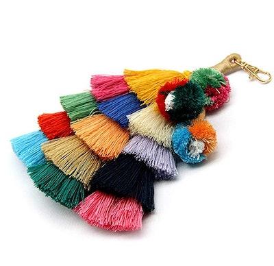 I-Bosom Colorful Boho Pom Pom Key Chain