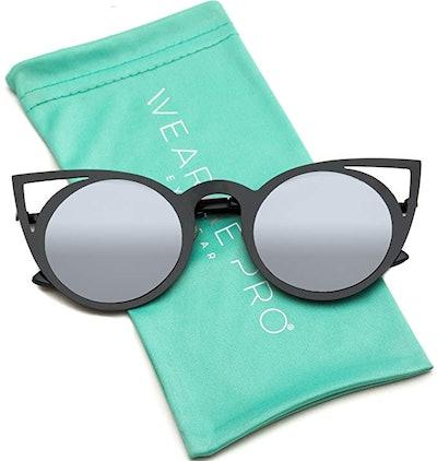 WearMe Pro Women's Cateye Retro Cat Eye Sunglasses