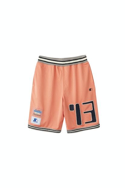 Basketball shorts pale pink