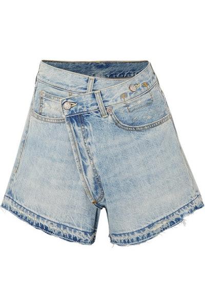 Denim Wrap Shorts