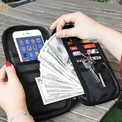 RFID-Blocking Travel Document Organizer