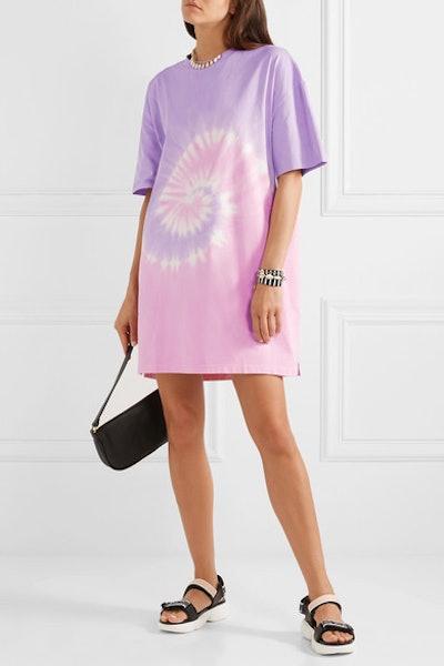 Tie-Dyed Organic Cotton-Jersey Mini Dress