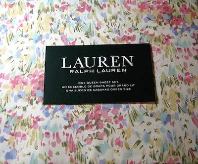 Ralph Lauren Watercolor Abstract Floral Sheet Set