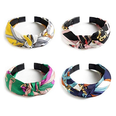 Unime Wide Colorful Headbands (4 Pack)