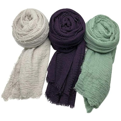 Axe Sickle Scarf Wrap Shawl (3 Pack)