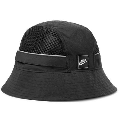 Sportswear Logo-Appliquéd Nylon and Mesh Bucket Hat