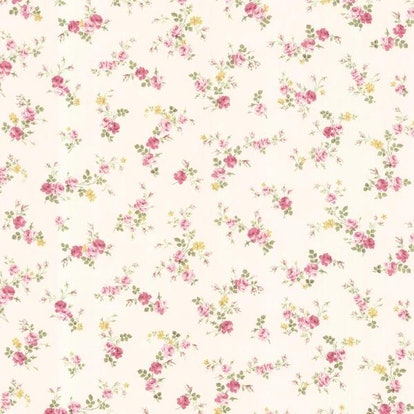 Brewster Turtledove Pink Small Rose Toss Wallpaper