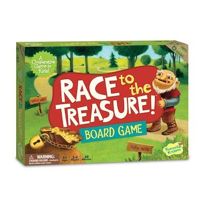 Peaceable Kingdom Race to the Treasure! Board Game