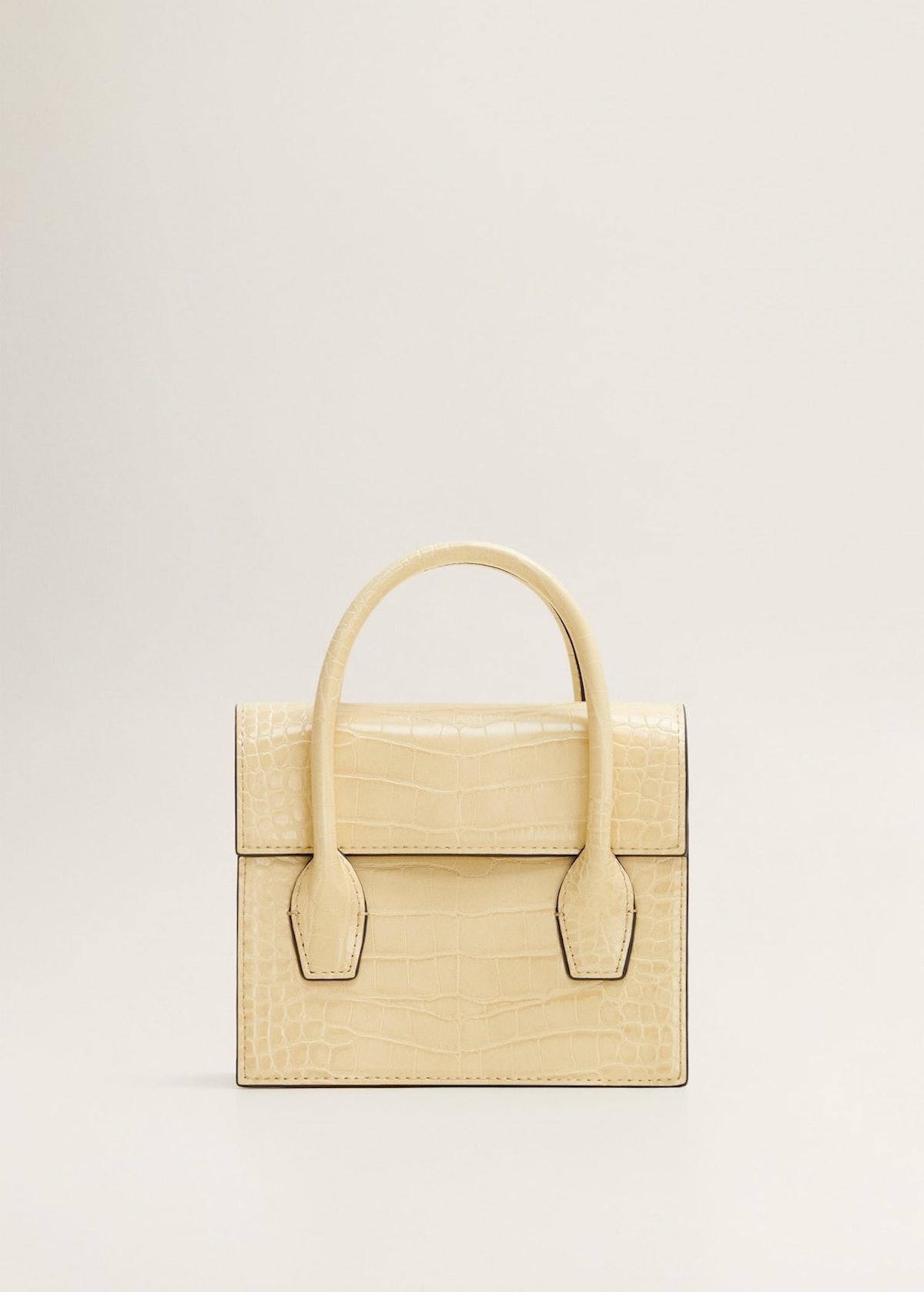 Croc-effect mini bag