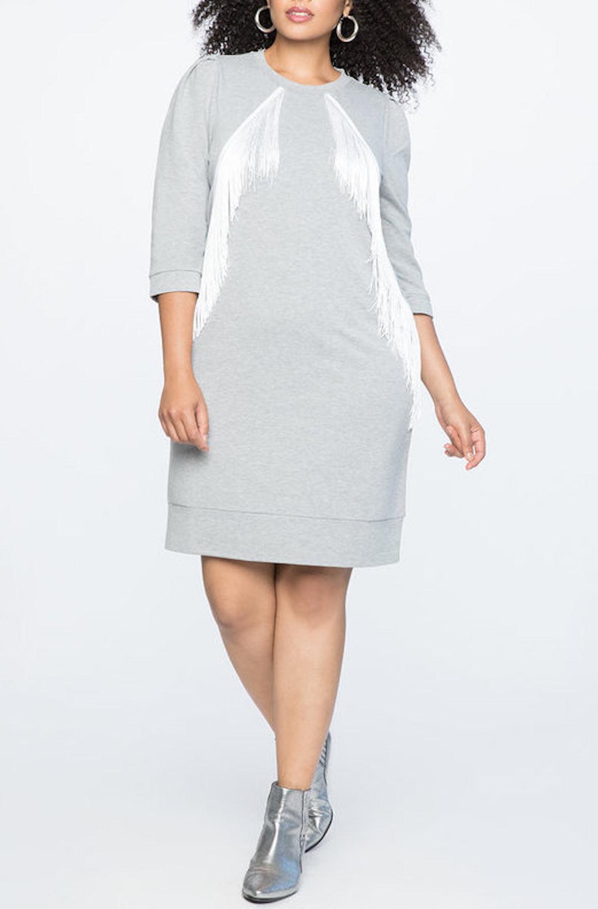 Fringe Detail Shift Dress