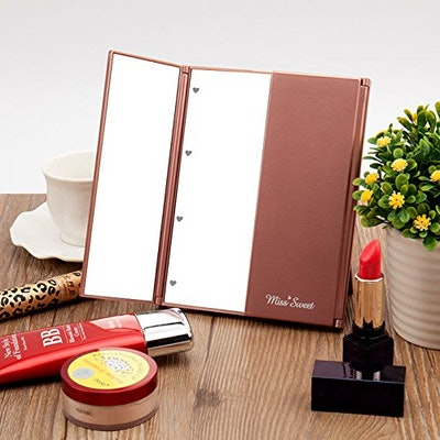 Miss Sweet LED Tri-Fold Makeup Mirror