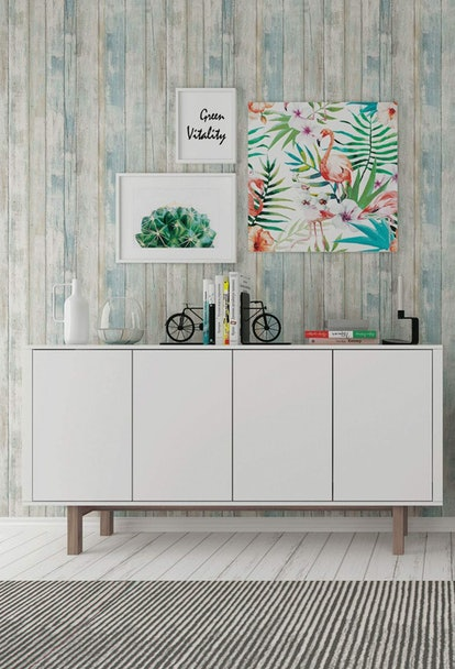 """Abyssaly Wood Contact Paper 17.71"""" X 196"""" Self-Adhesive Removable Wood Peel and Stick Wallpaper"""