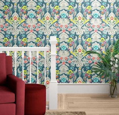 Bungalow Rose Asuncion Semi-Gloss Peel and Stick Wallpaper Roll