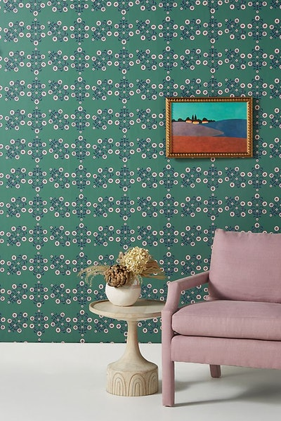 Floral Block Print Wallpaper