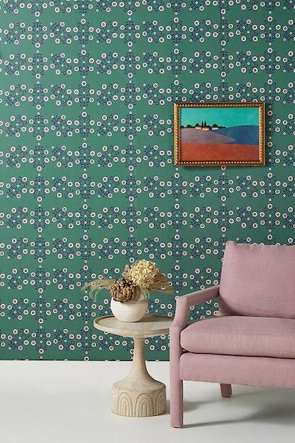 Floral Block Print Wallpaper