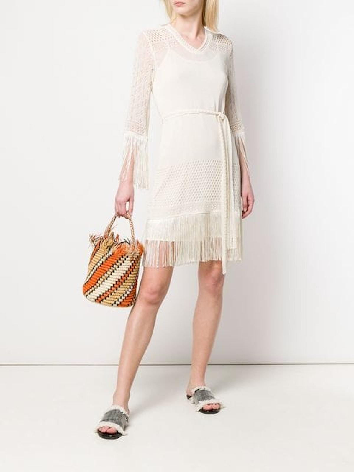 Macramé Tie Waist Dress