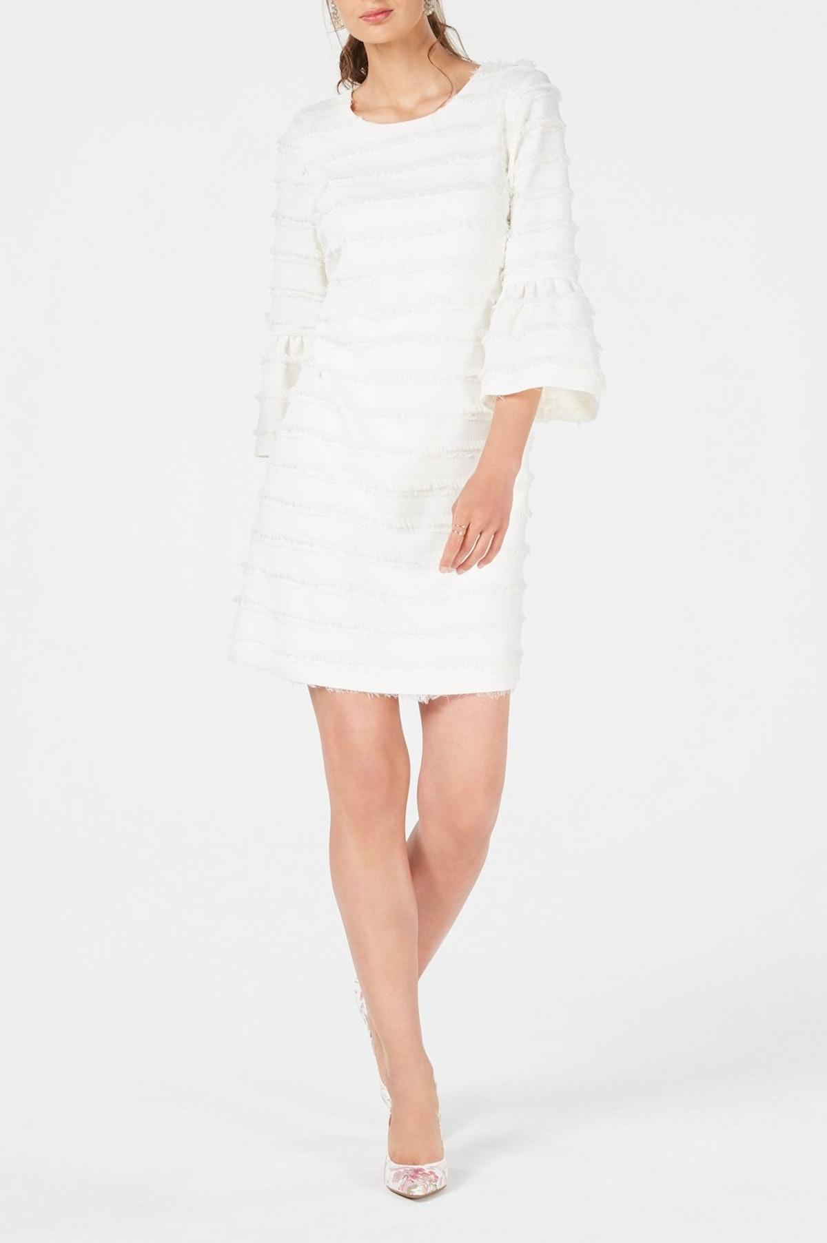 Fringed-Stripe Shift Dress