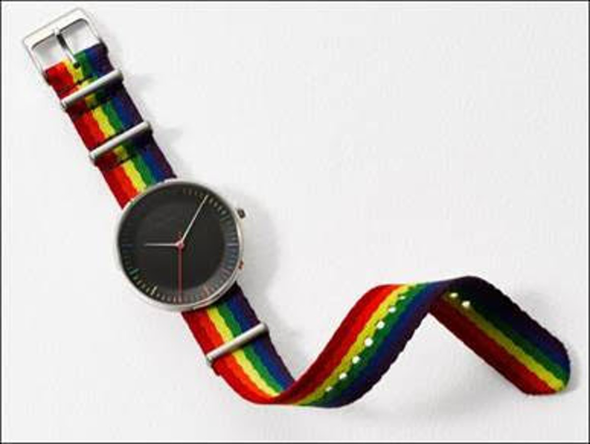 LIMITED EDITION PRIDE THREE-HAND STAINLESS STEEL WATCH CASE