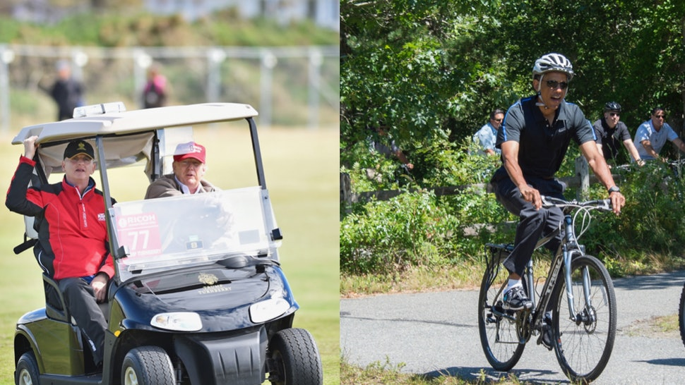 Family Vacations For Trump Vs  Obama Have One Thing In Common