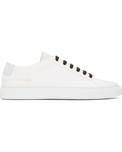 White Canvas Achilles Low Sneakers