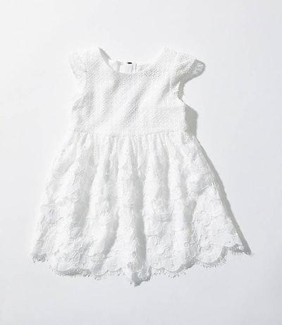 Loft Littles Lace Flare Dress