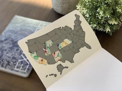 U.S. Travel Scratch Journal