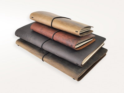 Around The World Refillable Leather Journal