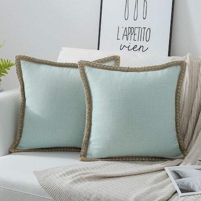 Phantoscope Tailored Linen Throw Pillows (Set of 2)