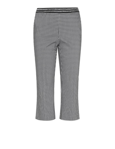 Manon Baptiste Cropped Gingham Trousers