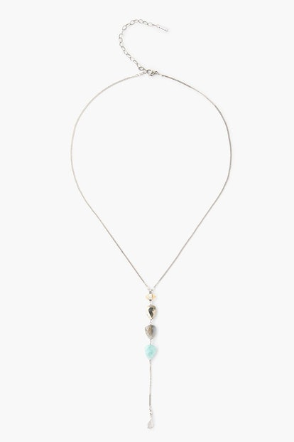 Tiered Amazonite Mix Y Necklace