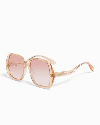 Olive Sunglasses Clear Peach