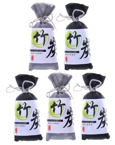 Homy Feel Air Purifying Bamboo Charcoal Air Freshener and Odor Eliminator Bags (5 Pack)