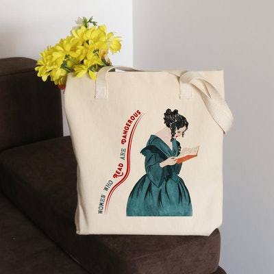 Women Who Read Are Dangerous Tote Bag
