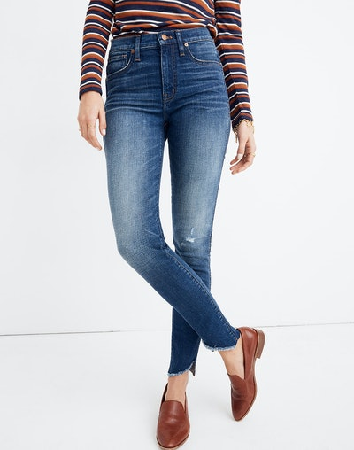 "10"" High-Rise Jeans: Cutout Tulip Hem Edition"