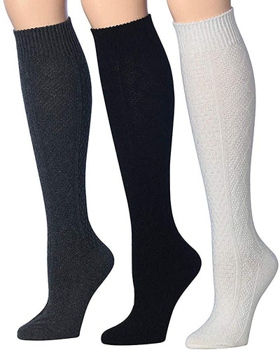 Tipi Toe Wool-Blend Knee-High Socks (3 Pairs)