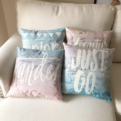 ULOVE LOVE YOURSELF Throw Pillows (Set of 4)