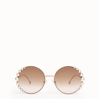 Ribbons & Pearls Metallic Sunglasses