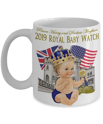 Prince Harry And Meghan Markle Royal Baby Watch Commemorative Coffee Mug Gift Meghan Markle USA and Britain Together Baby Of The Year