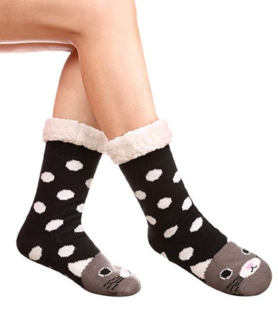 DYW Sherpa Fleece Animal Socks