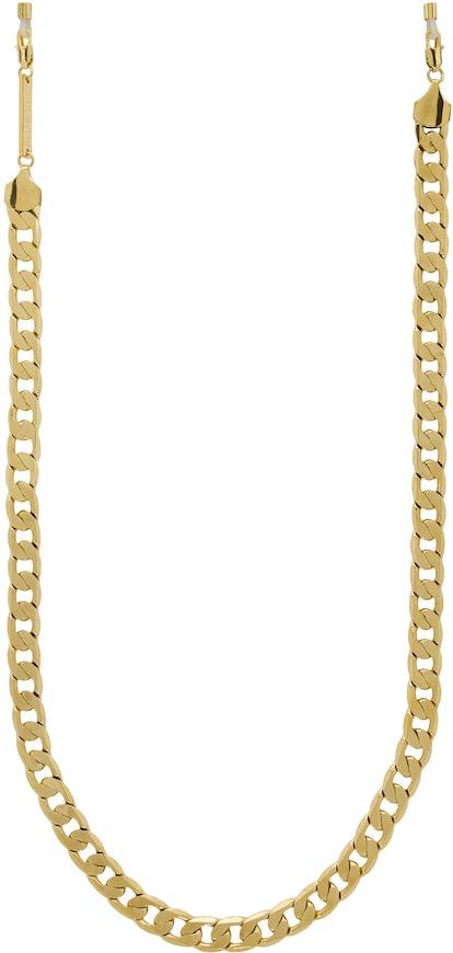 Gold Eyefash Sunglasses Chain