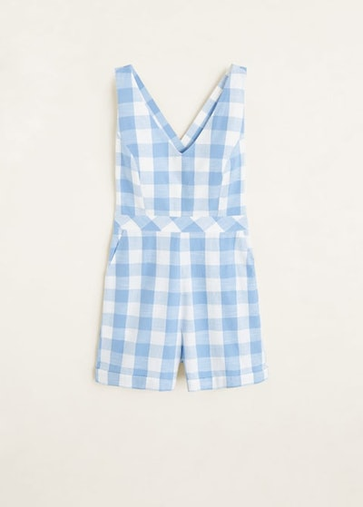 Gingham Check Jumpsuit