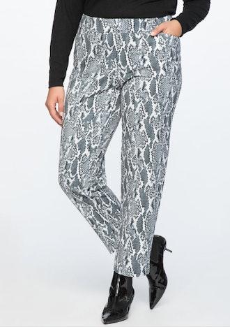 Kady Fit Printed Crepe Pant