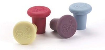 Outset Silicone Wine Stoppers (Set of 4)