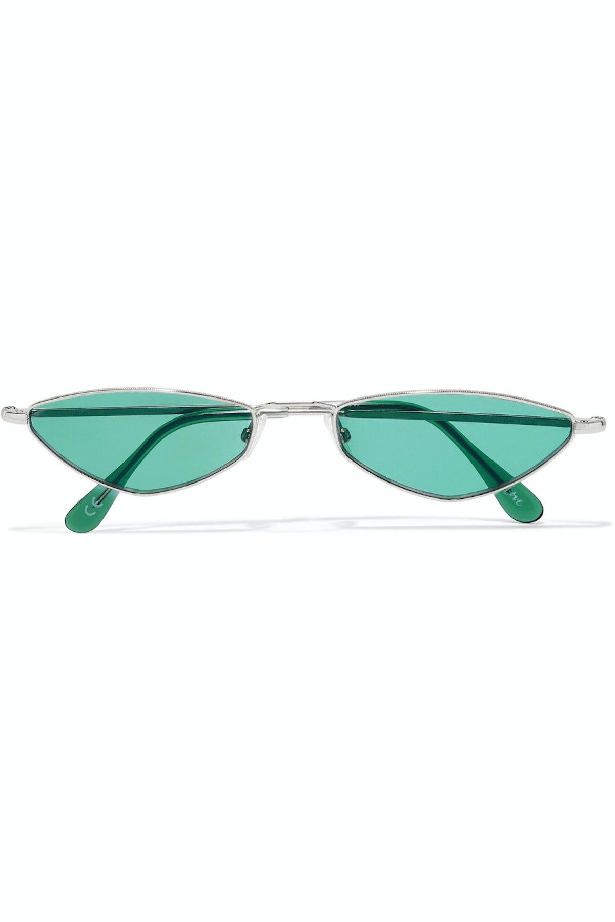 Eliza Oval-Frame Metal Sunglasses