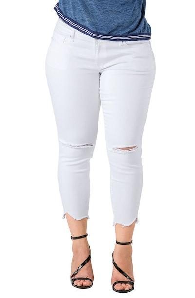 Tessa Chewed Hem Stretch Skinny Jeans