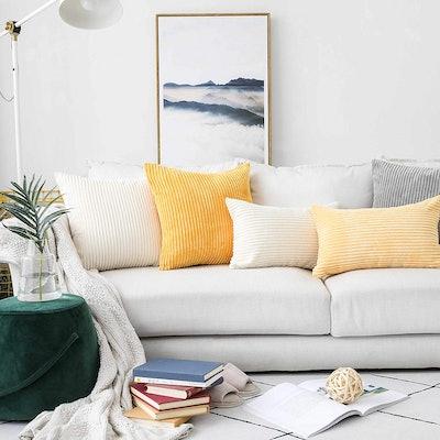 HOME BRILLIANT Velvet Throw Pillows (Set of 2)
