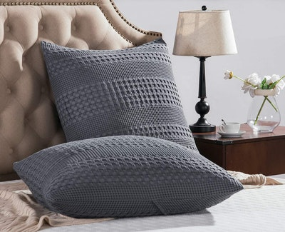 """PHF Waffle Weave 26"""" Throw Pillows (Set of 2)"""