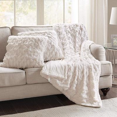 "Comfort Spaces 20"" Faux Fur Throw Set (Set of 3)"