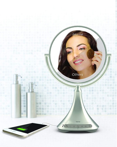 iHome All-in-One 2-Sided LED Bluetooth Makeup Mirror