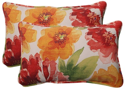 """Pillow Perfect 11.5"""" by 18.5"""" Outdoor Throw Pillows (Set of 2)"""